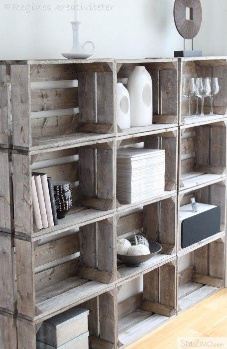 haz tu mueble lowcost con cajas de fruta - Muebles Con Cajas De Fruta