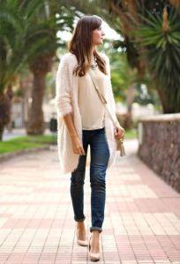 look entretiempo jeans y lana decharcoencharco