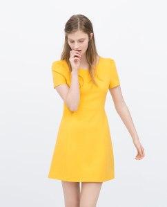 vestido amarillo zara www.decharcoencharco.com
