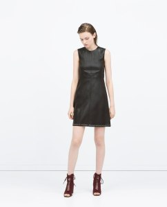vestido piel zara www.decharcoencharco.com