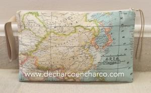 BOLSO MAPAMUNDI ASIA WWW.DECHARCOENCHARCO.COM