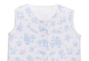 Saco de dormir en toile de jouy azul