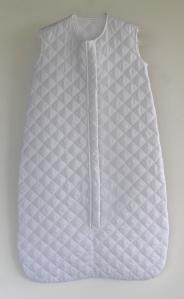 Saco de dormir en piqué guateado blanco