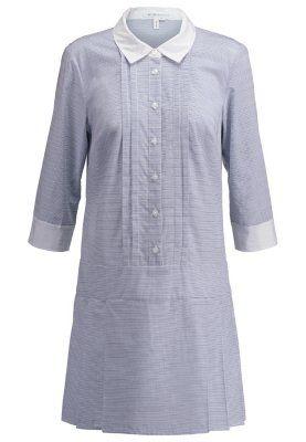 vestido camisero blanco-azul bcbgeneration zalando www.decharcoencharco.com