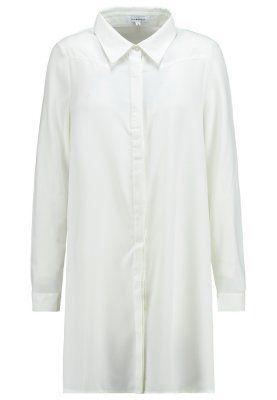 vestido camisero blanco oversize zalando www.decharcoencharco.com
