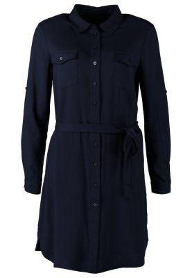 vestido camisero navy zalando www.decharcoencharco.com