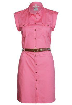 vestido camisero rosa pepe jeans zalando www.decharcoencharco.com