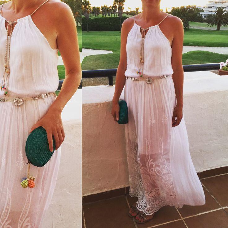 mercadillo vestido blanco www.decharcoencharco.com