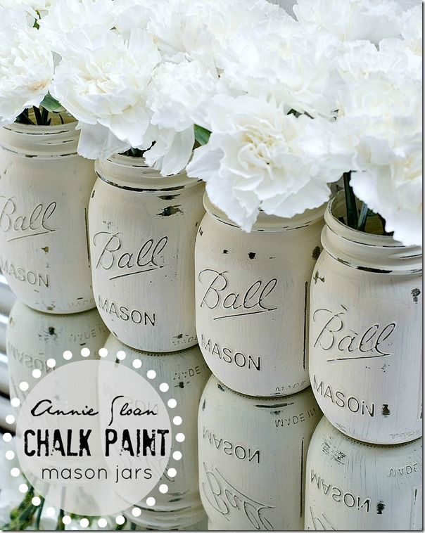 chalk paint jarrones www.decharcoencharco.com