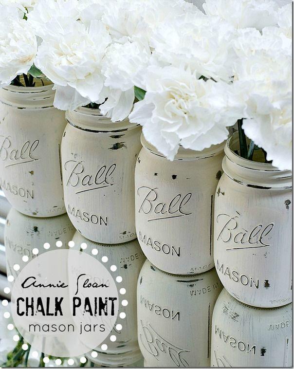 chalk paint jarrones www.decharcoencharco.com