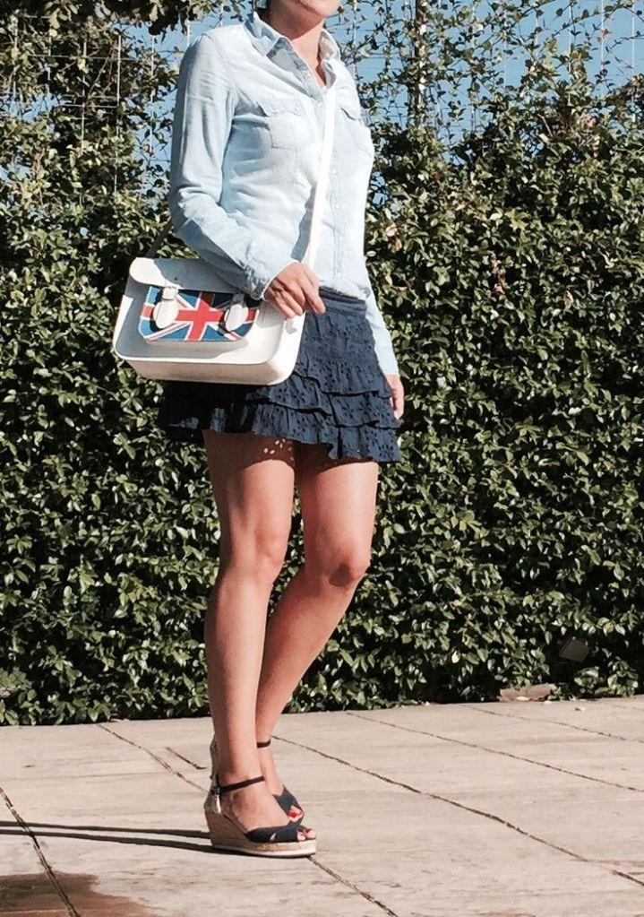 look septiembre mini azul www.decharcoencharco.com