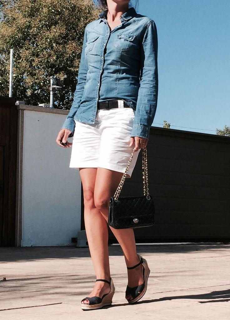 look septiembre shorts blancos www.decharcoencharco.com