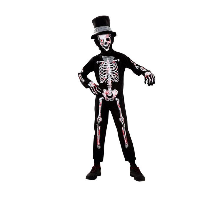 esqueleto disfraces halloween www.decharcoencharco.com