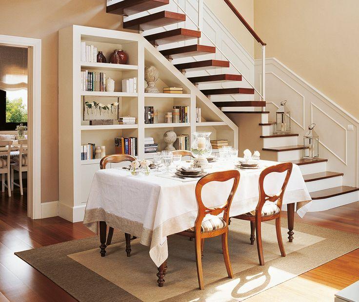 Ideas para aprovechar el hueco de la escalera nunca for Cantina debajo de las escaleras