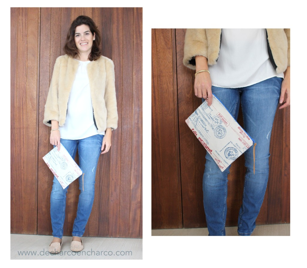 collage chaqueta osito y clutch dcec www.decharcoencharco.com
