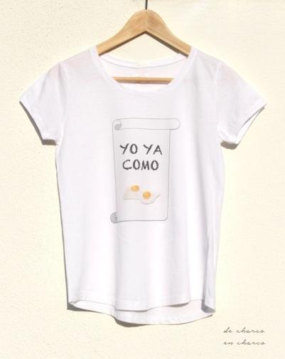 Camiseta YO YA COMO HUEVOS para mujer