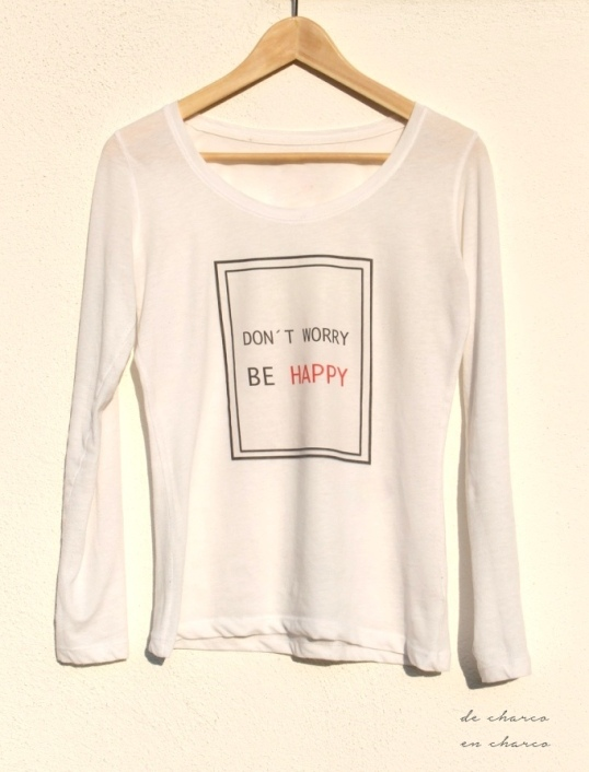 Camiseta DON'T WORRY BE HAPPY para mujer