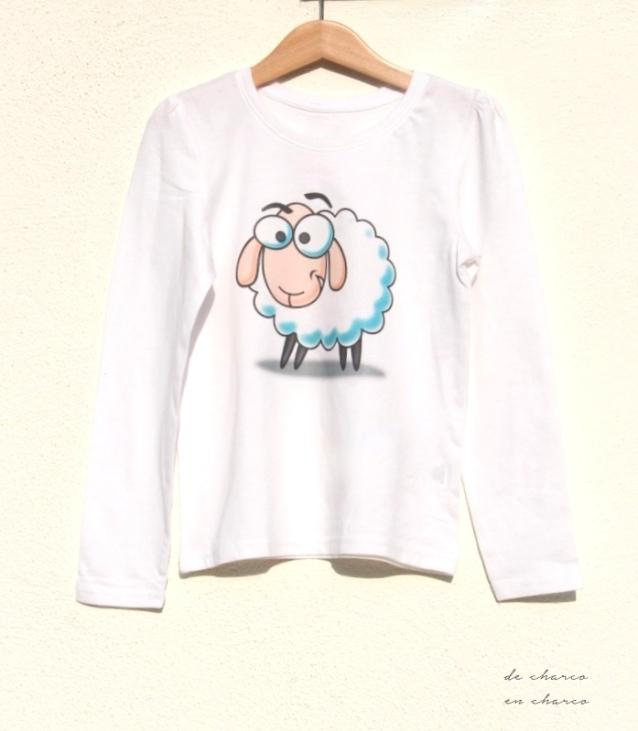 Camiseta dibujo CORDERO para niño o niña