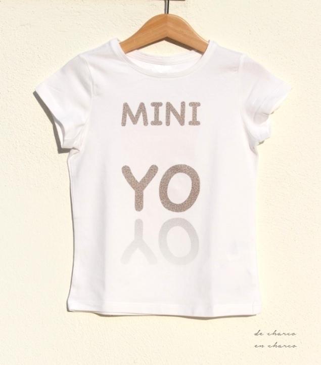 Camiseta MINI YO para niño o niña