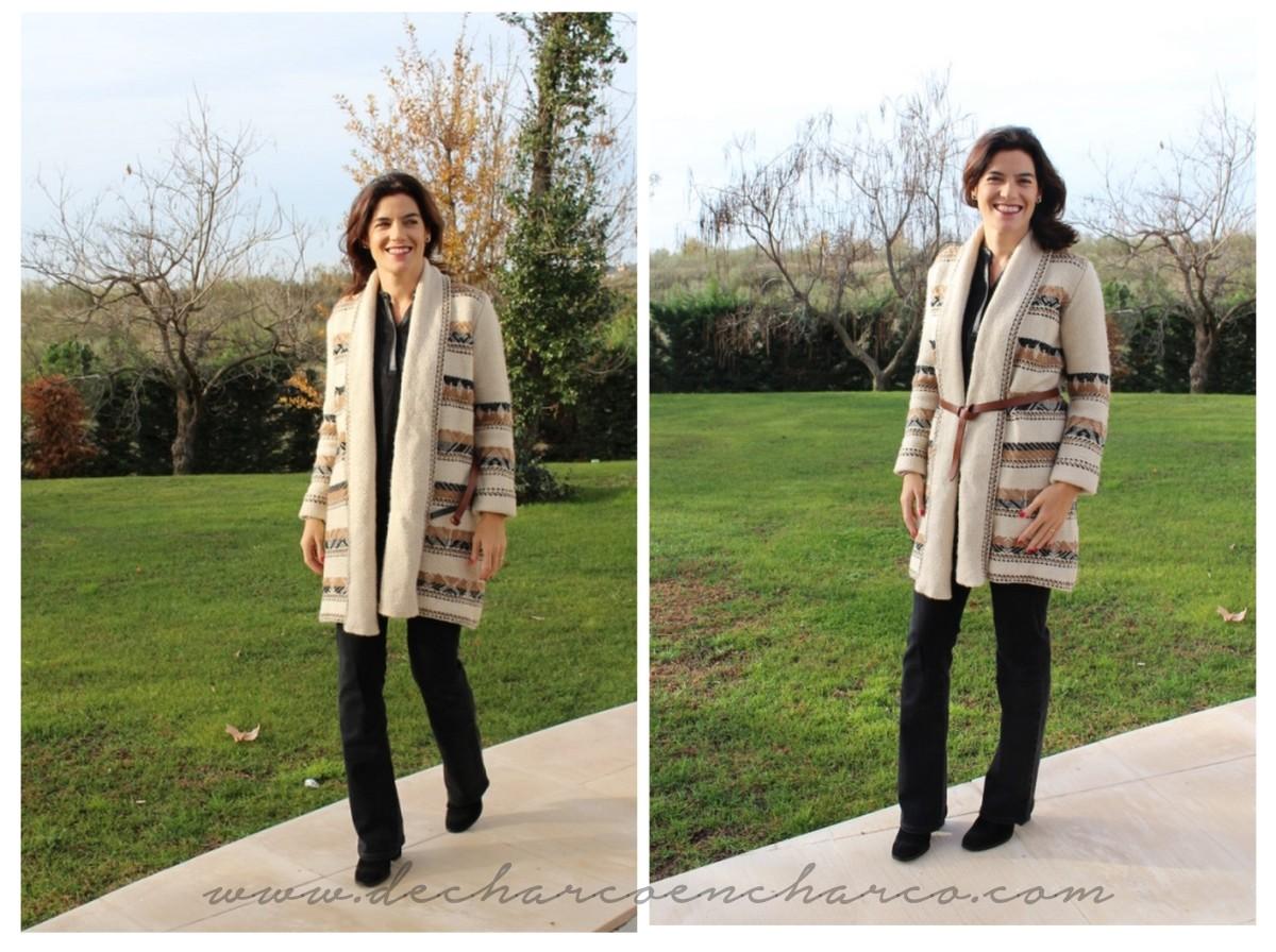 collage abrigo lana massimo dutti www.decharcoencharco.com