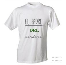 camiseta hombre EL PADRE DEL CORDERO 2 www.decharcoencharco.com