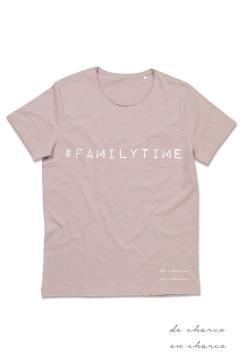 camiseta hombre familytime rosa www.decharcoencharco.com