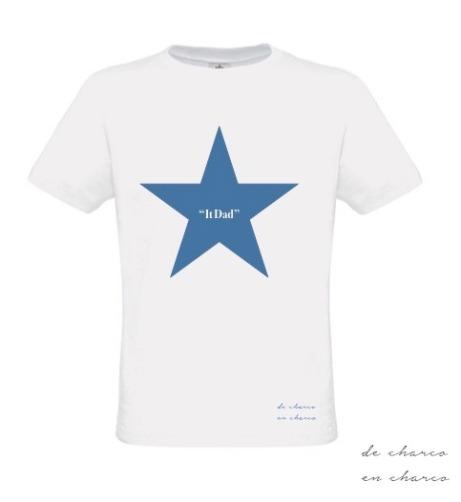 camiseta hombre it dad estrella azul 2 www.decharcoencharco.com