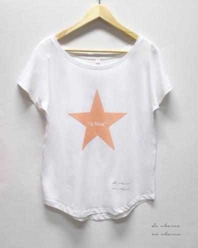 camiseta mujer estrella it mum www.decharcoencharco.com