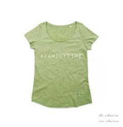 camiseta mujer familytime verde www.decharcoencharco.com