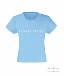 camiseta niña familytime azul www.decharcoencharco.com