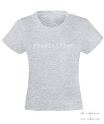 camiseta niña familytime gris www.decharcoencharco.com