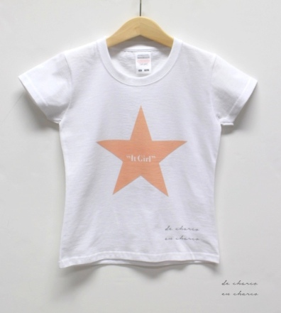 camiseta niña it girl estrella www.decharcoencharco.com