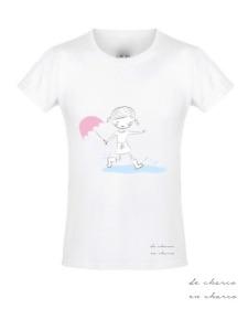 camiseta niña logo www.decharcoencharco.com