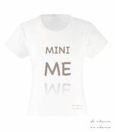 camiseta niña mini me www.decharcoencharco.com