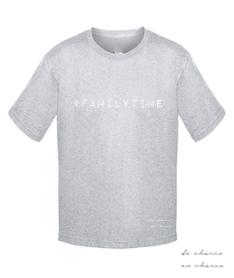 camiseta niño familytime gris www.decharcoencharco.com