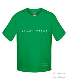camiseta niño familytime verde www.decharcoencharco.com