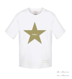 camiseta niño it boy estrella caqui 2 www.decharcoencharco.com
