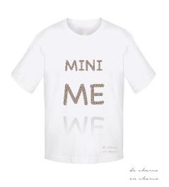 camiseta niño mini me www.decharcoencharco.com