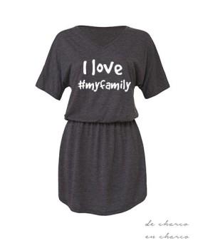 vestido mujer i love myfamily www.decharcoencharco.com