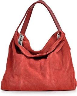 Bolso cuero rojo CNTMP vía AMAZON. 29,90€
