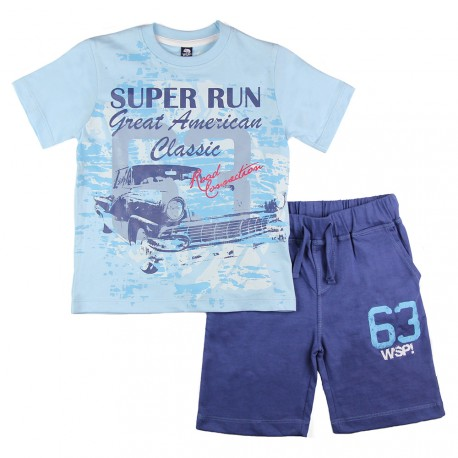 conjunto camiseta 611400 wsp kids www.decharcoencharco.com
