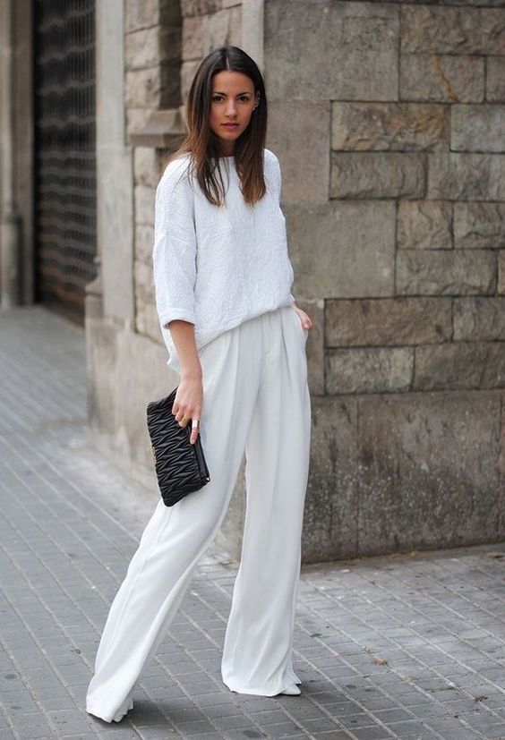 look primavera pantalones anchos blancos www.decharcoencharco.com
