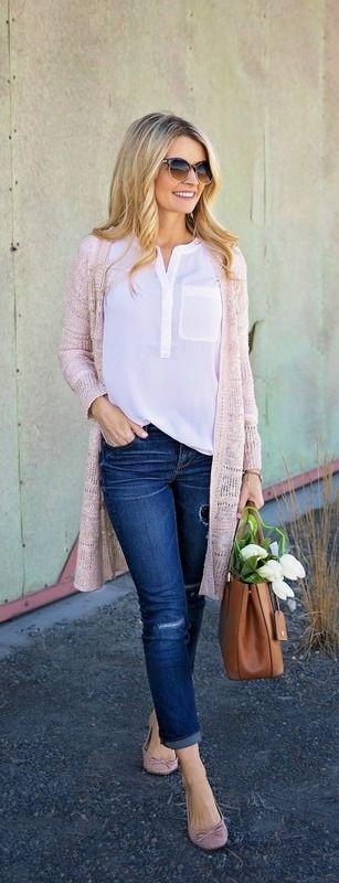 look primavera rosa cuazo chaqueta punto www.decharcoencharco.com