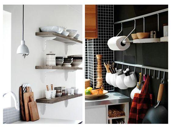 baldas y ganchos orden en cocina www.decharcoencharco.com