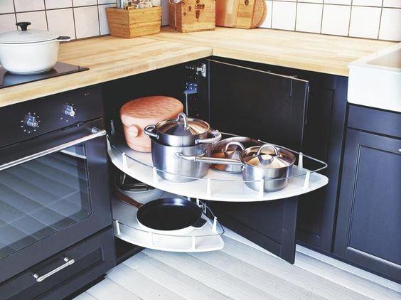Mueble de esquina 2 orden en cocina de charco en charco - Muebles de cocina en esquina ...