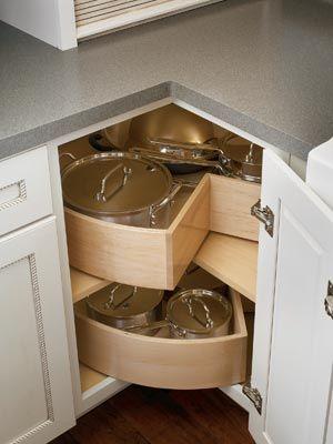 mueble de esquina orden en cocina www.decharcoencharco.com