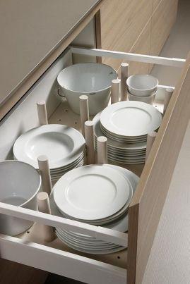 organizador prefabricado 13 transparentes prefabricado orden en cocina www.decharcoencharco.com