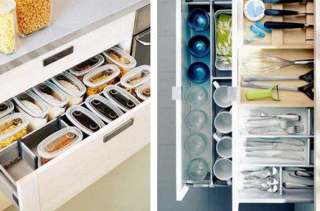 Organizador y tuppers transparentes prefabricado orden en for Organizador utensilios cocina