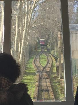 Funicular que sube al Parque de atracciones Monte Igueldo