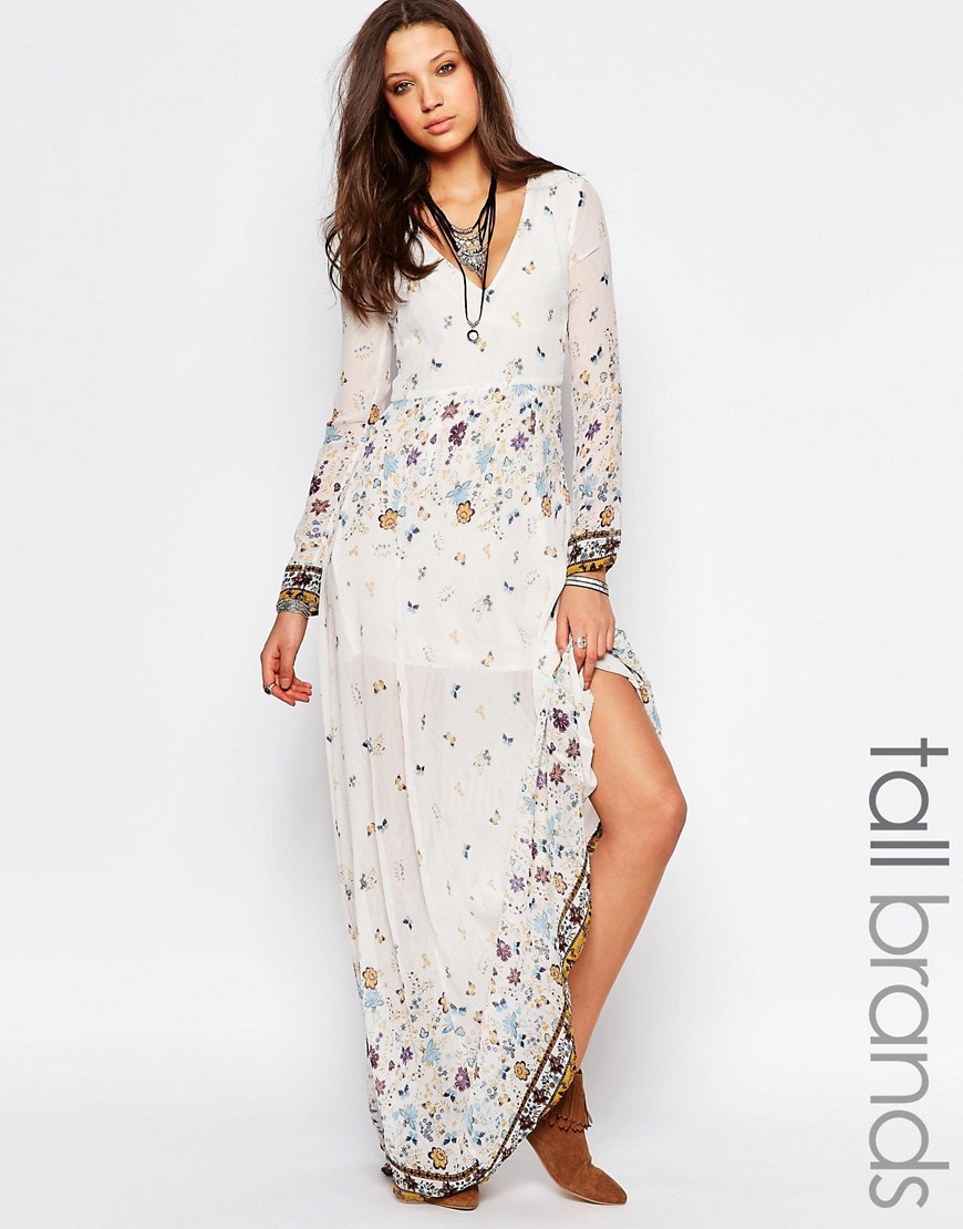 maxi dress asos folk www.decharcoencharco.com